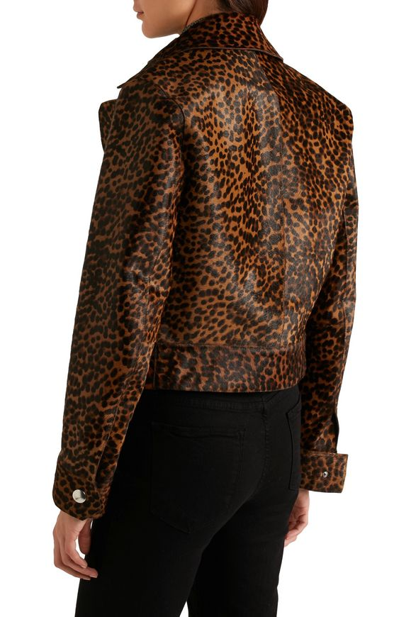 Leopard-print calf hair biker jacket | ISABEL MARANT | Sale up to 70% off |  THE OUTNET