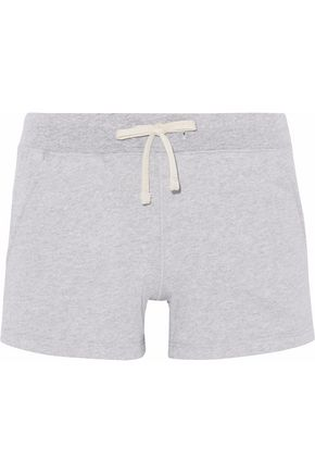 SLEEPY JONES Ribbed-trimmed cotton-fleece pajama shorts