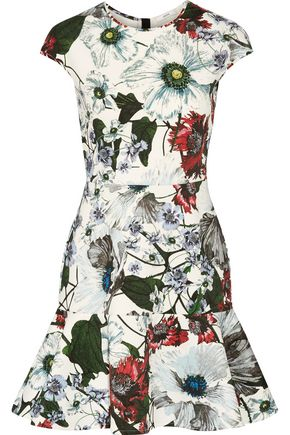 ERDEM Darlina floral-print neoprene mini dress