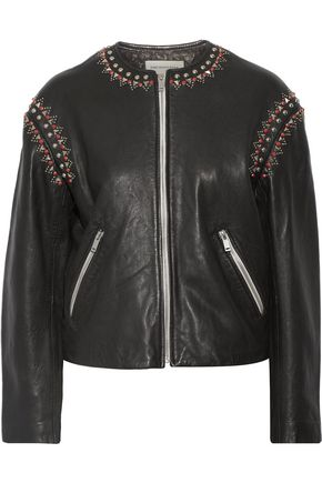 ISABEL MARANT ÉTOILE Buddy embellished leather jacket