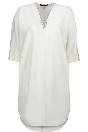 ALEXANDER WANG Embellished crepe mini dress