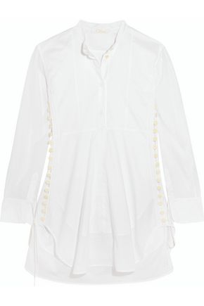 CHLOÉ Cotton-voile mini dress