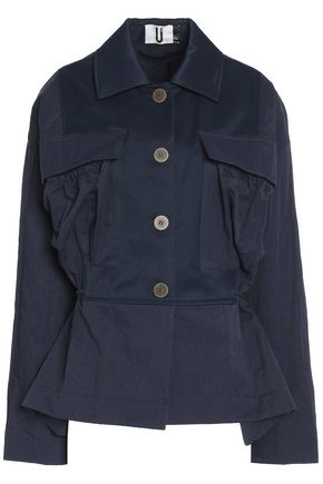 TOPSHOP UNIQUE Redford oversized twill-paneled shell jacket
