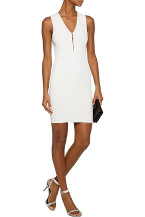 T by ALEXANDER WANG Ribbed stretch-knit mini dress