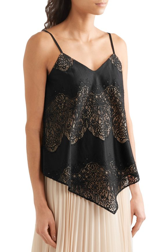 Emmeline crepe and crocheted lace camisole | ALICE+OLIVIA | Sale up to 70%  off | THE OUTNET