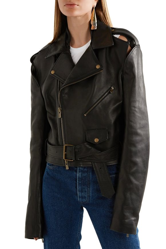 Cutout leather biker jacket | Y/PROJECT | Sale up to 70% off | THE OUTNET