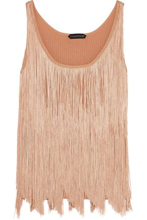 TOM FORD Fringed stretch-knit camisole