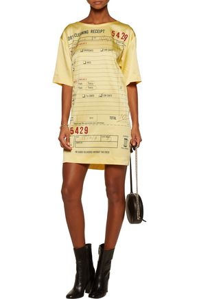 MOSCHINO Printed crepe de chine mini dress