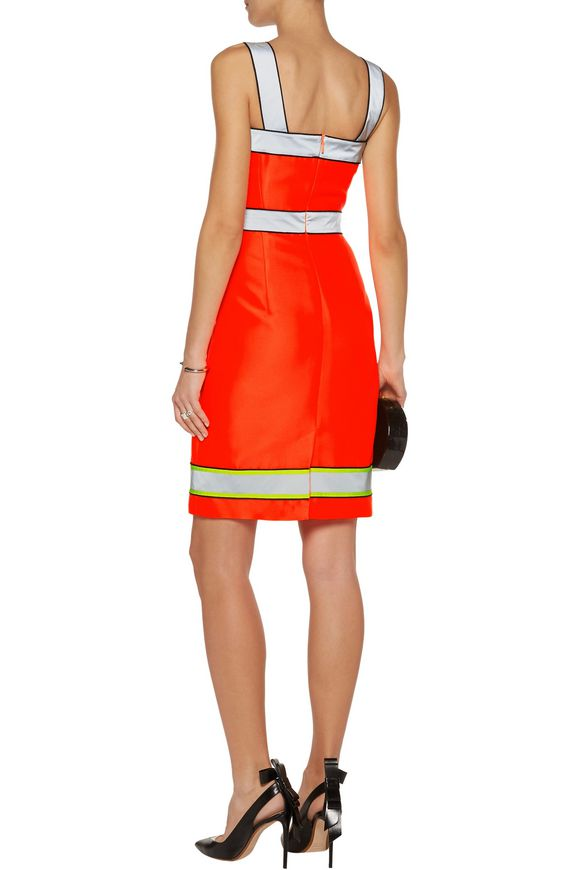 Reflective-trimmed neon twill dress | MOSCHINO | Sale up to 70% off | THE  OUTNET