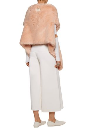 STELLA McCARTNEY Asymmetric faux fur vest