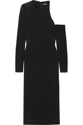 TOM FORD Cutout silk-crepe midi dress