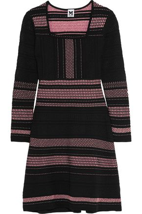 M MISSONI Metallic paneled crochet-knit mini dress