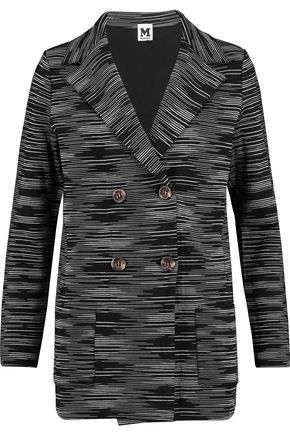 M MISSONI Double-breasted crochet-knit jacket