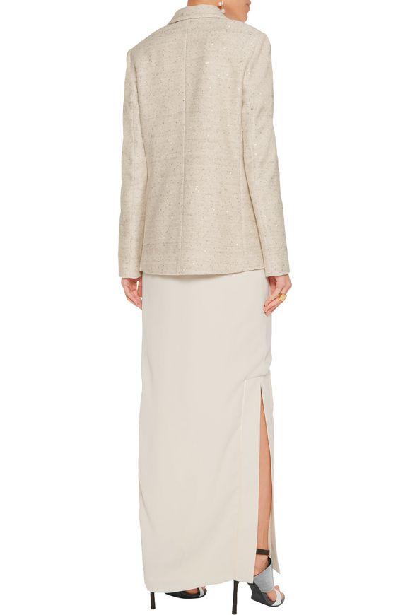 Sequin-embellished linen-blend jacket | BRUNELLO CUCINELLI | Sale up to 70%  off | THE OUTNET