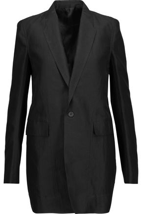 RICK OWENS Faun cotton and silk-blend blazer
