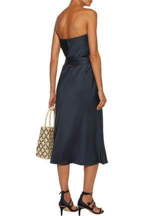ZIMMERMANN Adorn strapless belted satin midi dress