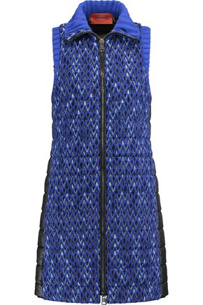 MISSONI Padded crochet-knit and shell vest