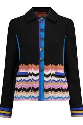 MISSONI Crochet-knit wool-blend jacket