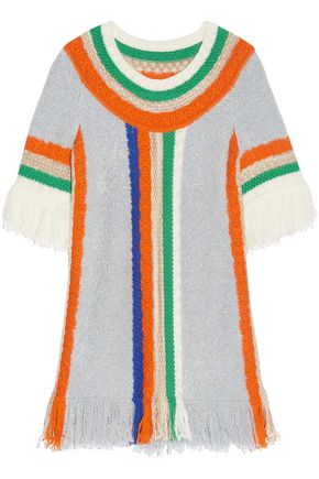 MISSONI Fringed wool-blend mini dress