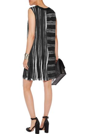 MISSONI Paneled wool-blend crochet-knit dress
