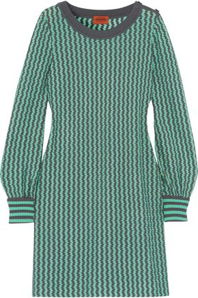 MISSONI Crochet-knit wool-blend mini dress