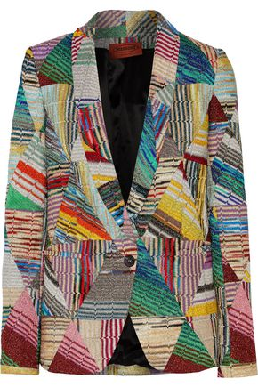 MISSONI Metallic crochet-knit jacket