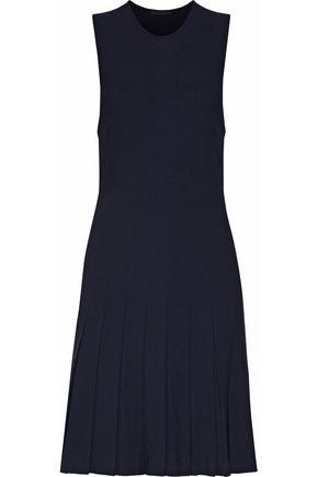 Whitney pleated stretch-knit mini dress