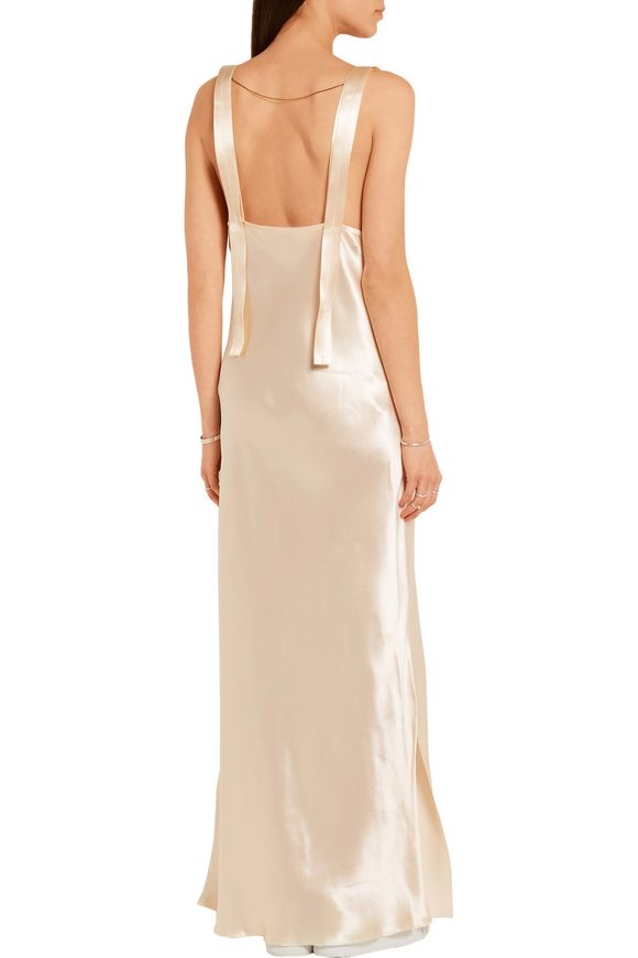 Gadow embellished satin gown | CALVIN KLEIN COLLECTION | Sale up to 70% off  | THE OUTNET