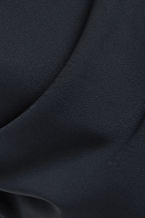 CALVIN KLEIN COLLECTION Asymmetric cold-shoulder crepe midi dress