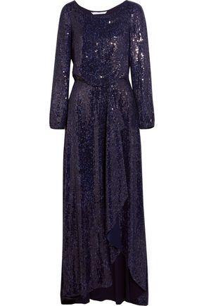 DIANE VON FURSTENBERG Delani sequined-silk maxi dress