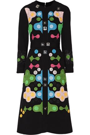 PETER PILOTTO Embellished embroidered crepe midi dress