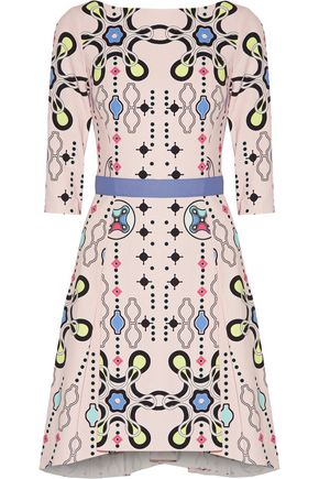PETER PILOTTO Belted printed crepe dress
