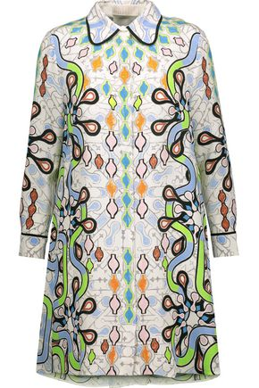 PETER PILOTTO Printed silk-crepe mini dress