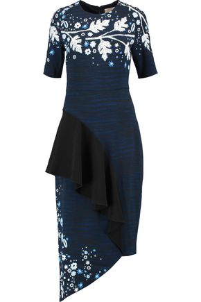 PETER PILOTTO Ruffled printed crepe midi dress