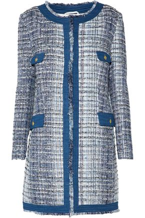 PIERRE BALMAIN Fringed cotton-blend bouclé-tweed jacket