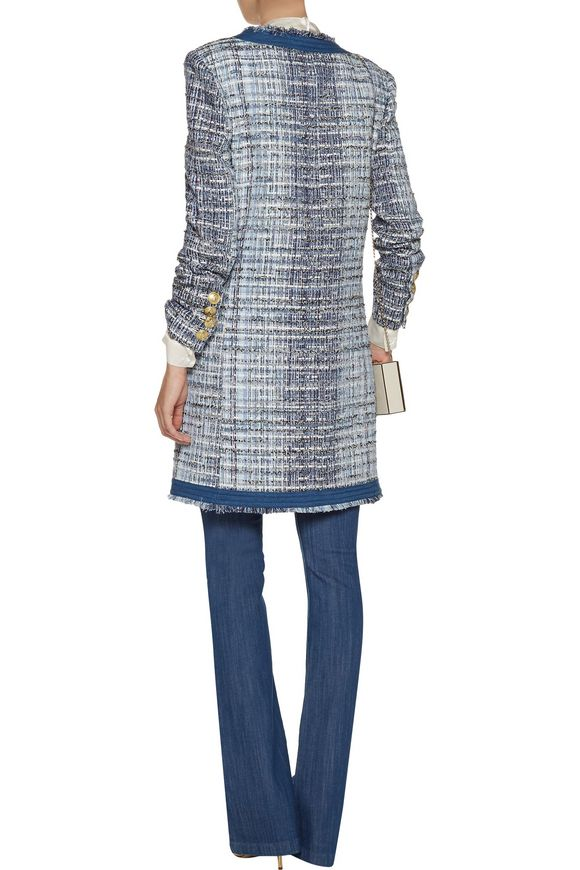 Fringed cotton-blend bouclé-tweed jacket | PIERRE BALMAIN | Sale up to 70%  off | THE OUTNET