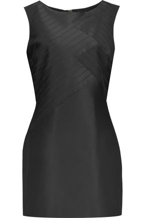PIERRE BALMAIN Striped satin mini dress