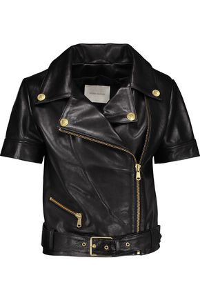 PIERRE BALMAIN Leather biker jacket