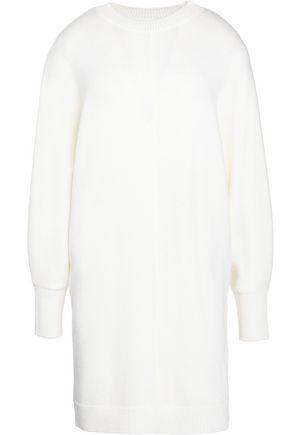 MAJE Cutout wool sweater mini dress