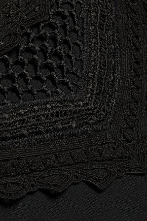 JONATHAN SIMKHAI Fluted cutout embroidered crepe midi dress