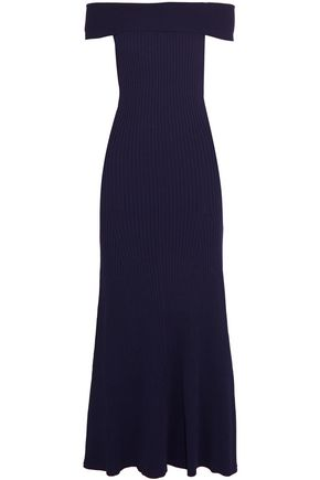 BY MALENE BIRGER Alliane off-the-shoulder ribbed stretch-knit maxi dress