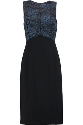 JASON WU Paneled bouclé and crepe dress