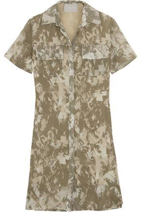 JASON WU Printed silk-crepe dress