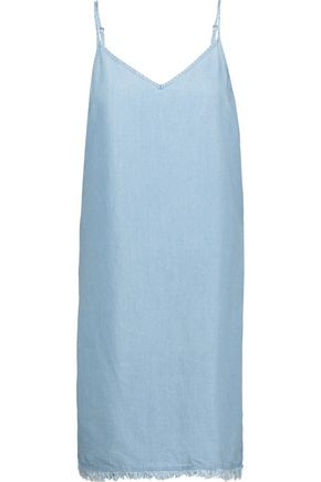 SPLENDID Frayed denim dress
