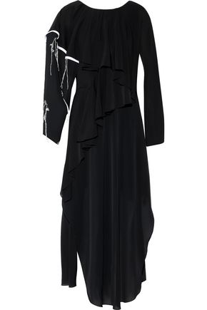 CHALAYAN Ruffled chiffon maxi dress