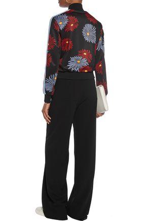 MSGM Floral-print jersey bomber jacket