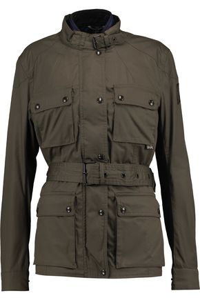 BELSTAFF Reversible belted cotton-canvas jacket