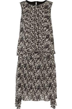 BELSTAFF Lindsey asymmetric layered printed chiffon mini dress