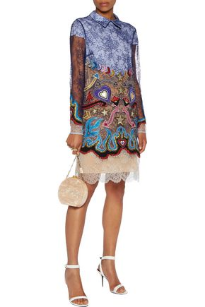 MARY KATRANTZOU Juliet embellished guipure lace mini dress