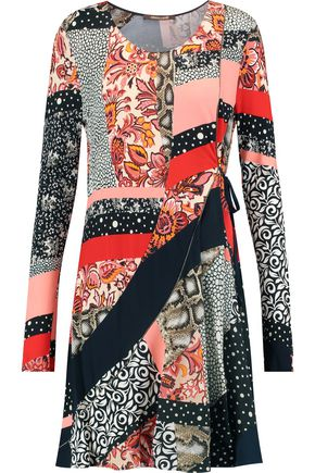 ROBERTO CAVALLI Printed crepe de chine dress